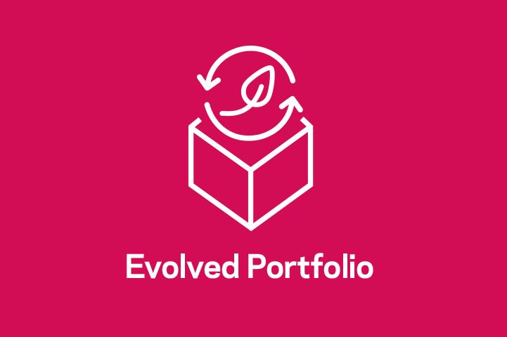 A color-blocked, magenta image of the Chemours Evolved Portfolio icon.
