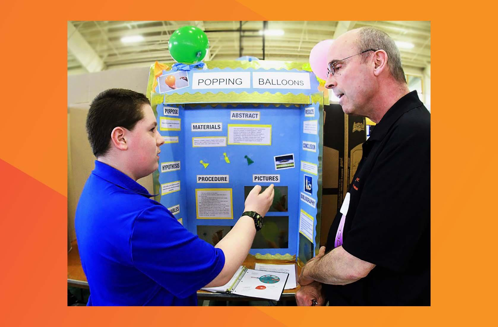 employees engage students by acting as teachers, mentors, and even judges at science fairs