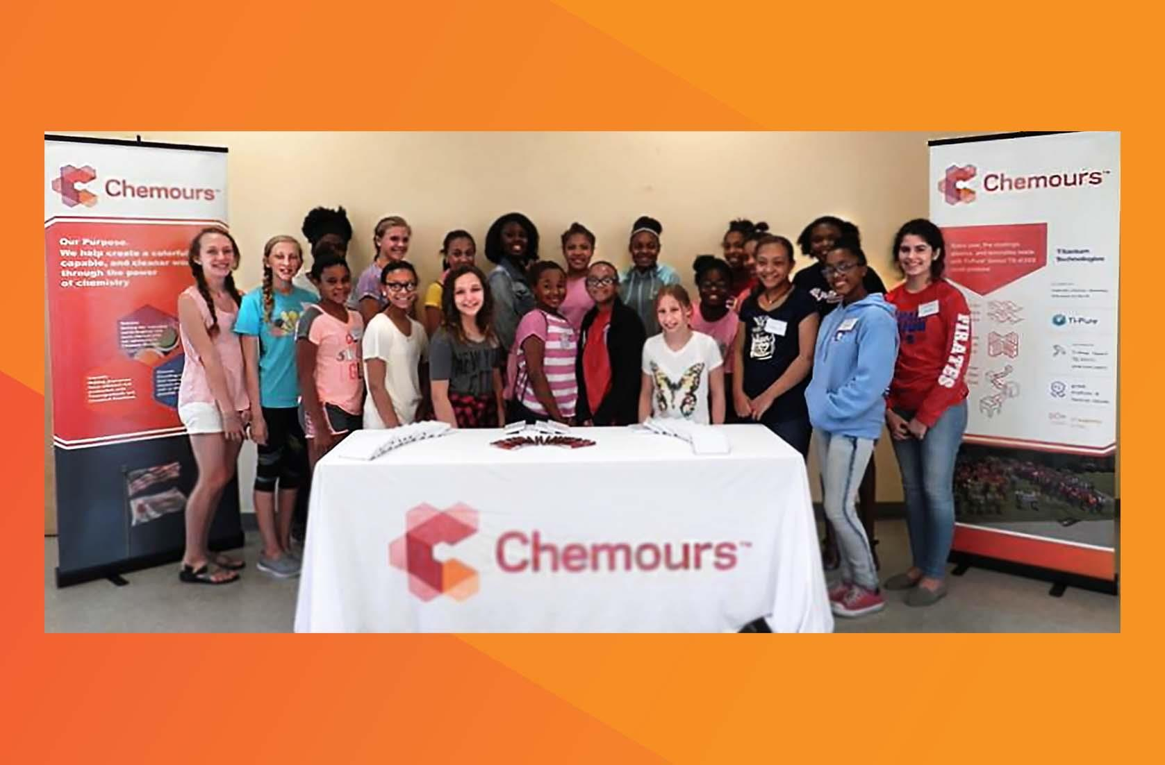 students from Gulfport, Mississippi, during their STEM summer camp session at our DeLisle plant