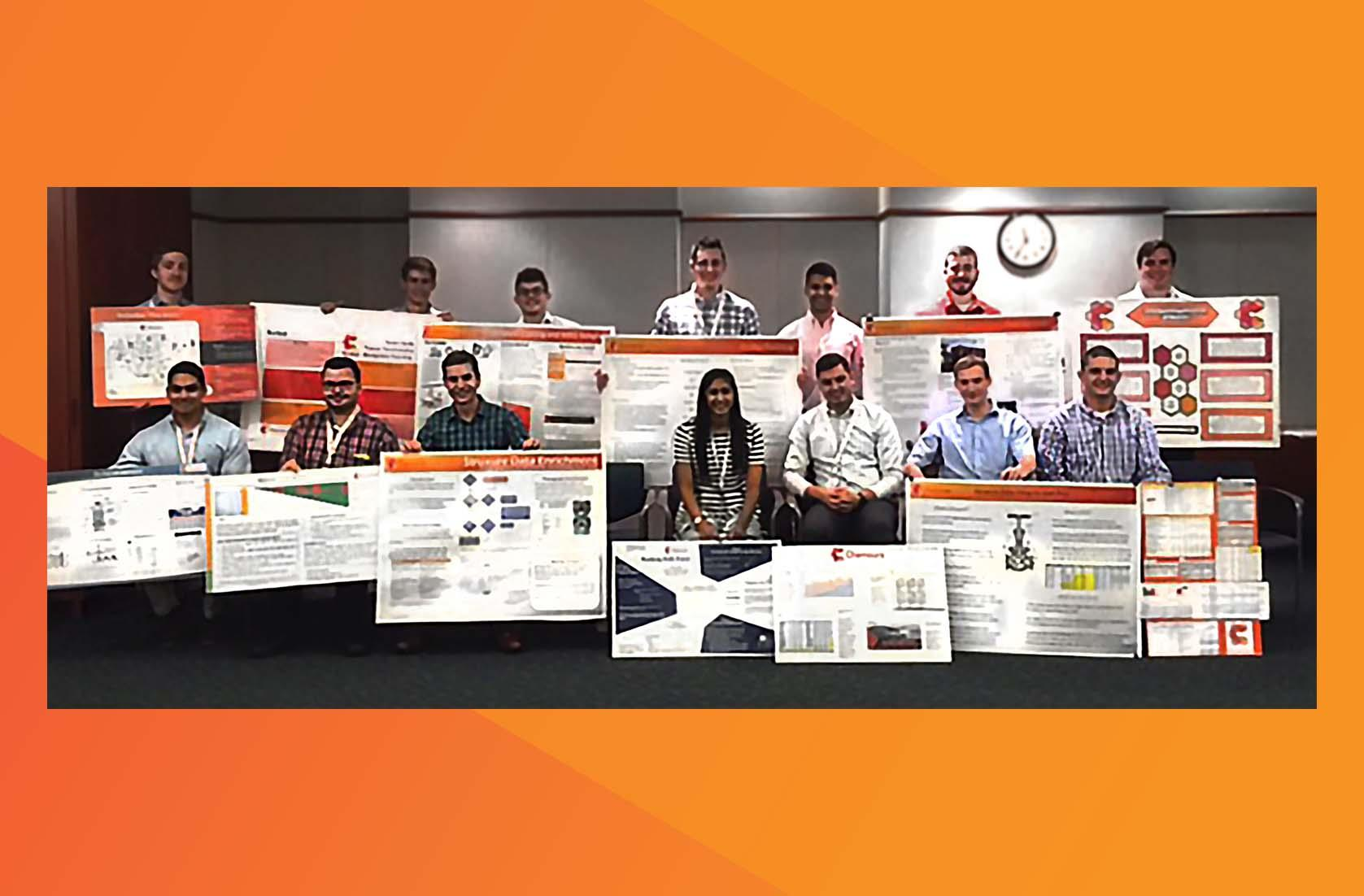 summer interns participate in hands-on activities and deliver final presentations